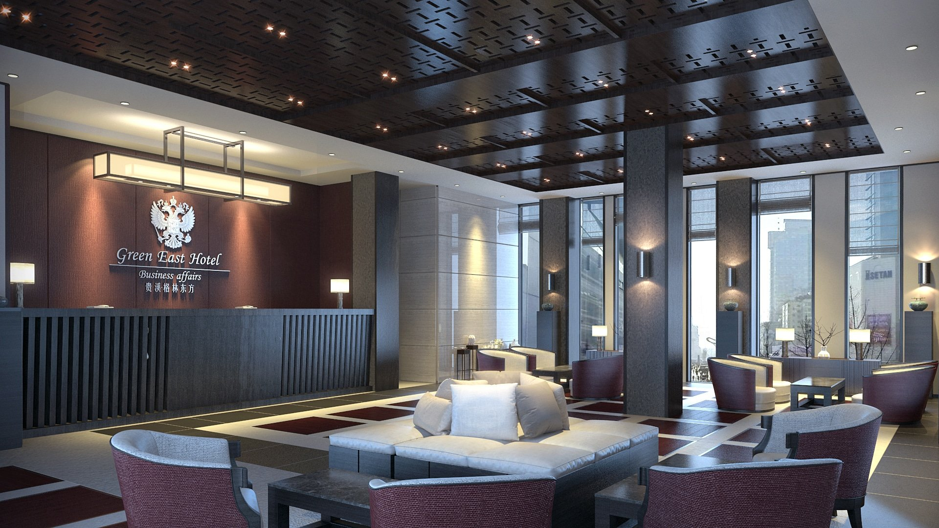 Photorealistic Renderings: Green East Hotel
