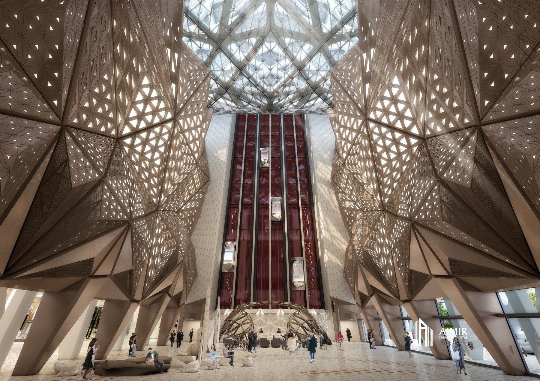 3D Interior Renderings Take You a Virtual Tour to the Morpheus Hotel