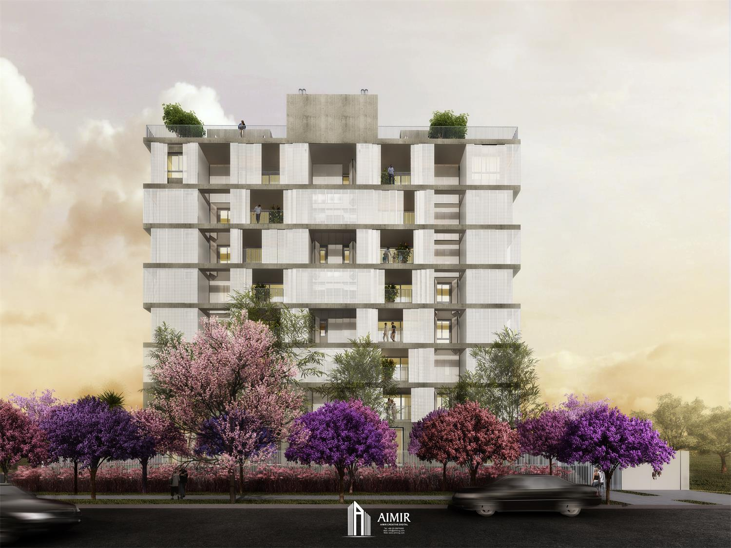Architectural 3D Renderings of Brazil GRIS Residence: A Garden-style Apartment Building