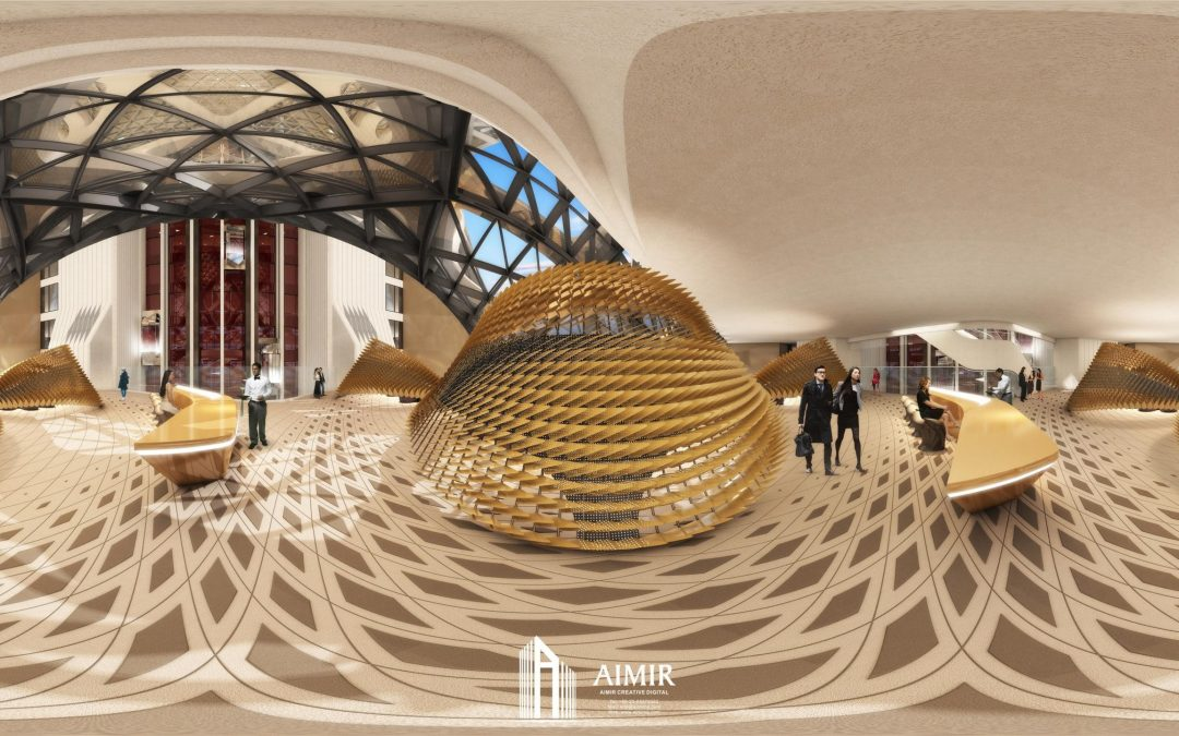 360° Architectural Renderings (Panorama View) for the Morpheus Hotel