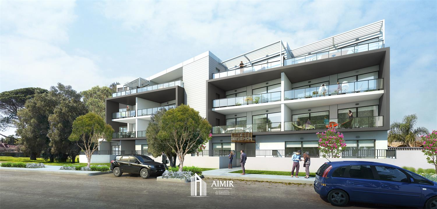 3 Renderings of A Local Apartment in Stirling