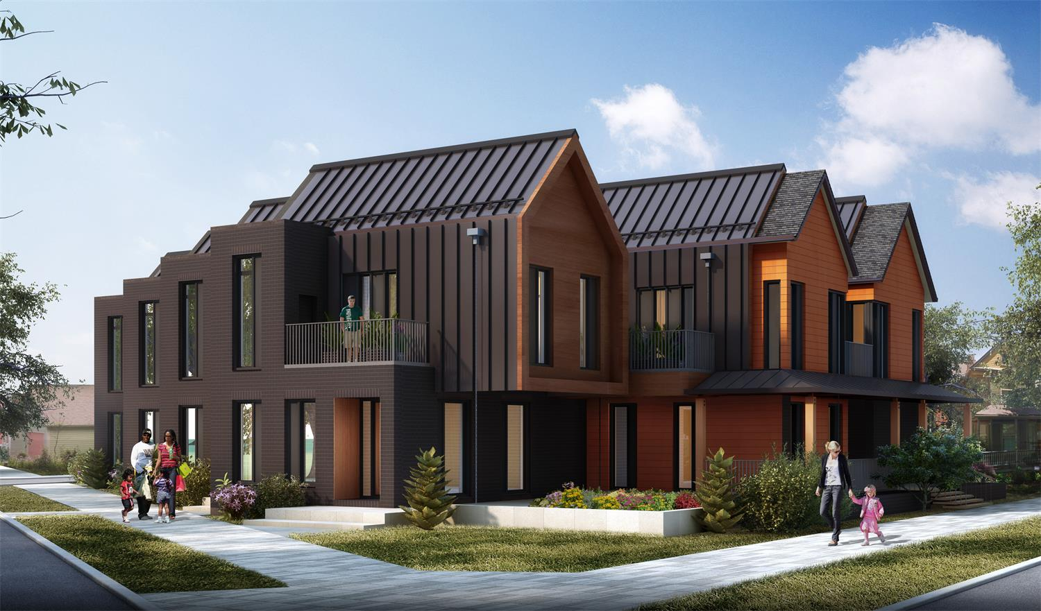 3D Visualization of Whitman Ohio City Townhomes