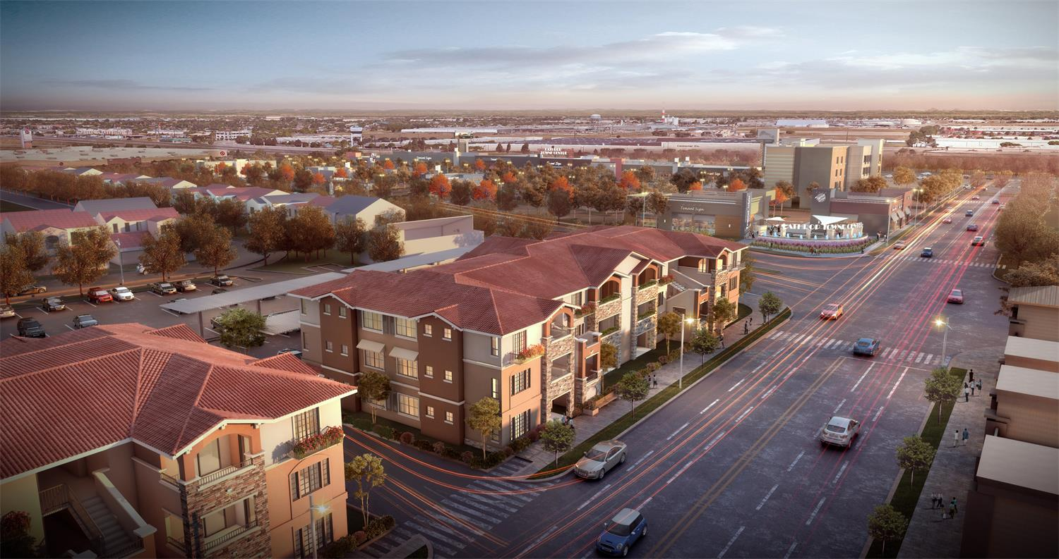Lathrop Town Centre Apartments Was Approved by using AIMIR's Renderings