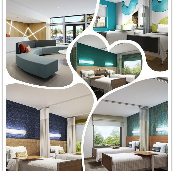 3D Photorealistic Renderings: Patient Room Design Collection in Yr2018-2019